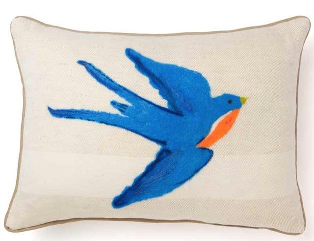 Nestle & Soar-Tattoo Sparrow Pillow